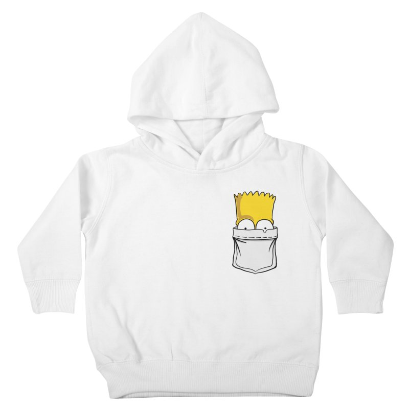 Bart Simpson in My Pocket Kids Toddler Pullover Hoody by RLLBCK Clothing Co.