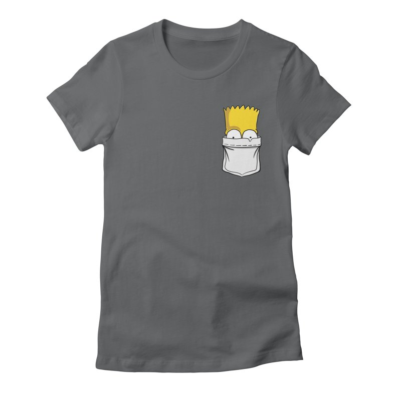 Bart Simpson in My Pocket Women's Fitted T-Shirt by RLLBCK Clothing Co.