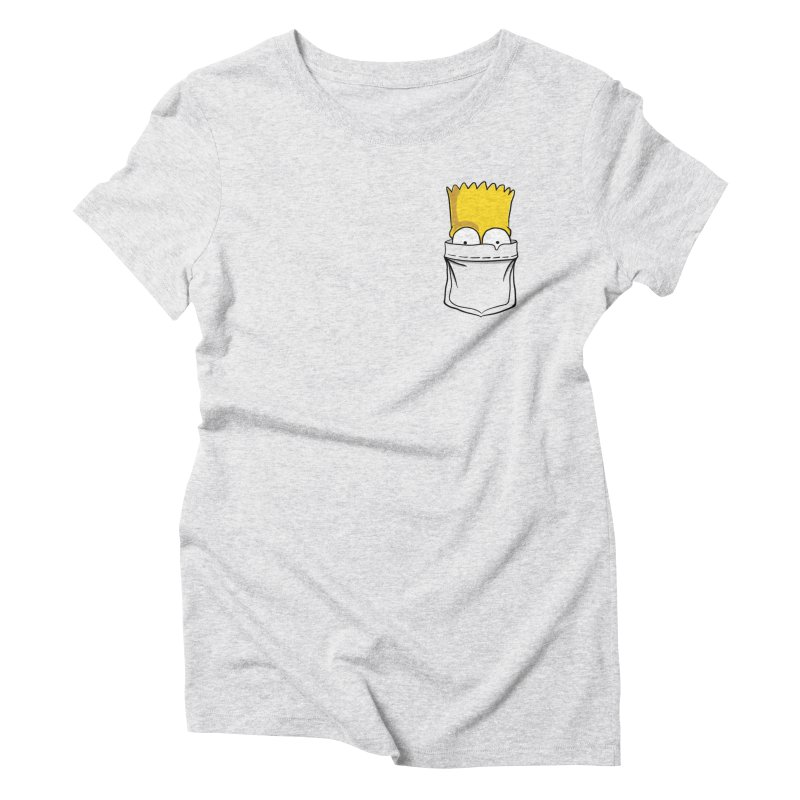 Bart Simpson in My Pocket Women's Triblend T-Shirt by RLLBCK Clothing Co.