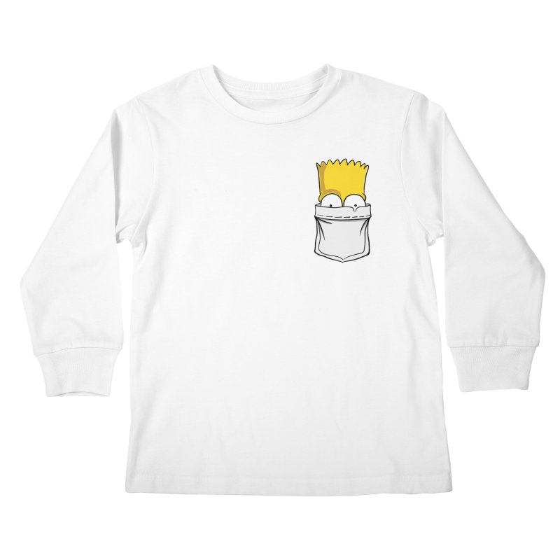 Bart Simpson in My Pocket Kids Longsleeve T-Shirt by RLLBCK Clothing Co.
