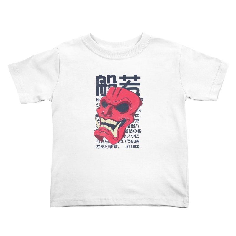 Hannya Mask Kids Toddler T-Shirt by RLLBCK Clothing Co.