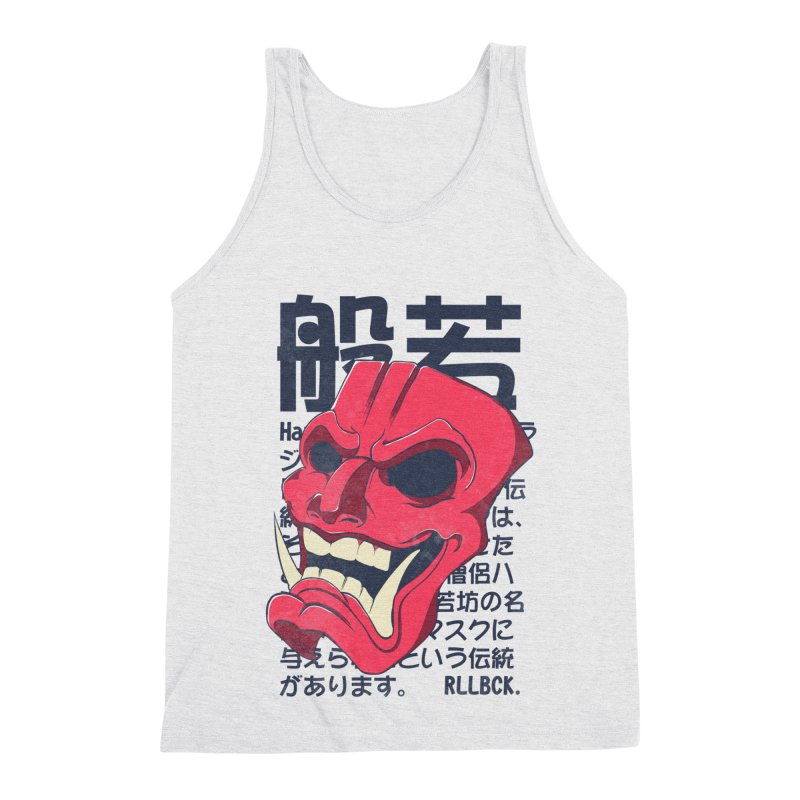 Hannya Mask Men's Triblend Tank by RLLBCK Clothing Co.