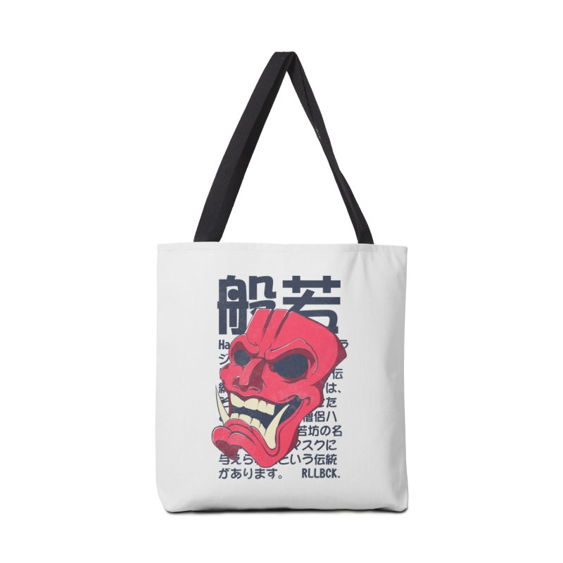 Hannya Mask Accessories Tote Bag Bag by RLLBCK Clothing Co.
