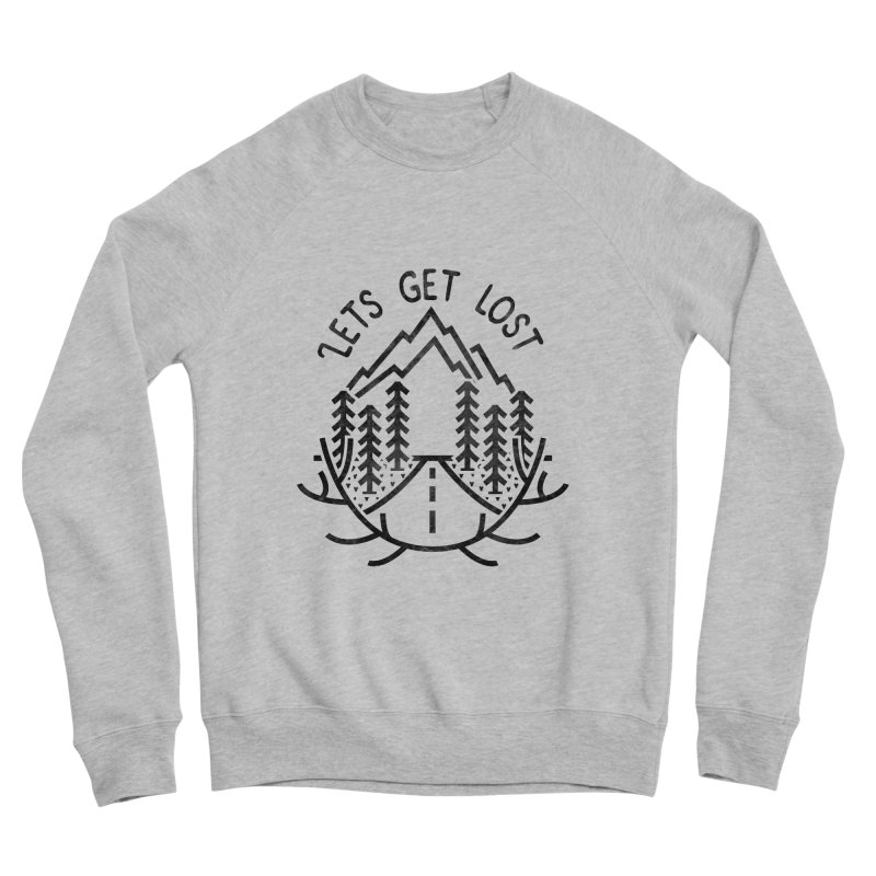 Lets get Lost Men's Sponge Fleece Sweatshirt by RLLBCK Clothing Co.