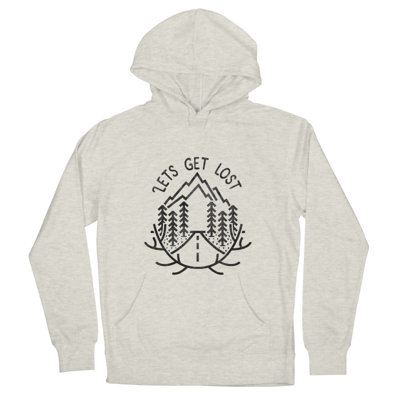 Lets get Lost Men's French Terry Pullover Hoody by RLLBCK Clothing Co.