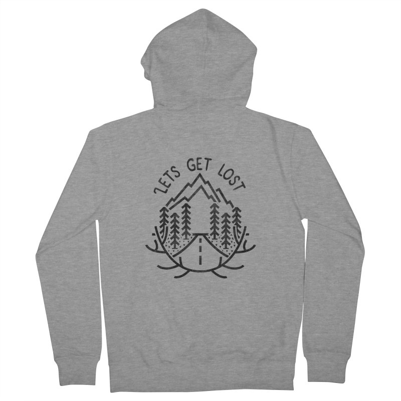 Lets get Lost Men's French Terry Zip-Up Hoody by RLLBCK Clothing Co.