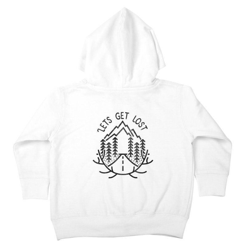 Lets get Lost Kids Toddler Zip-Up Hoody by RLLBCK Clothing Co.