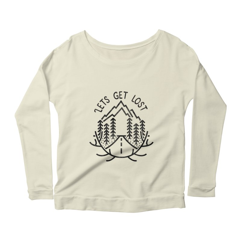 Lets get Lost Women's Scoop Neck Longsleeve T-Shirt by RLLBCK Clothing Co.