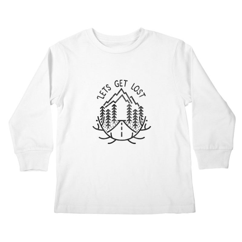 Lets get Lost Kids Longsleeve T-Shirt by RLLBCK Clothing Co.