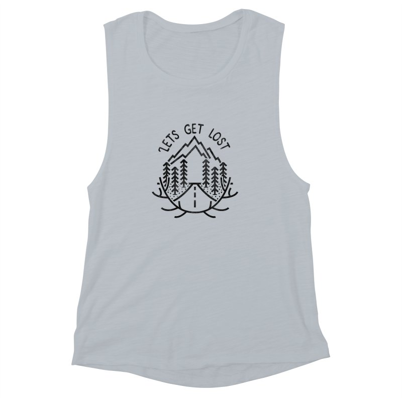 Lets get Lost Women's Muscle Tank by RLLBCK Clothing Co.