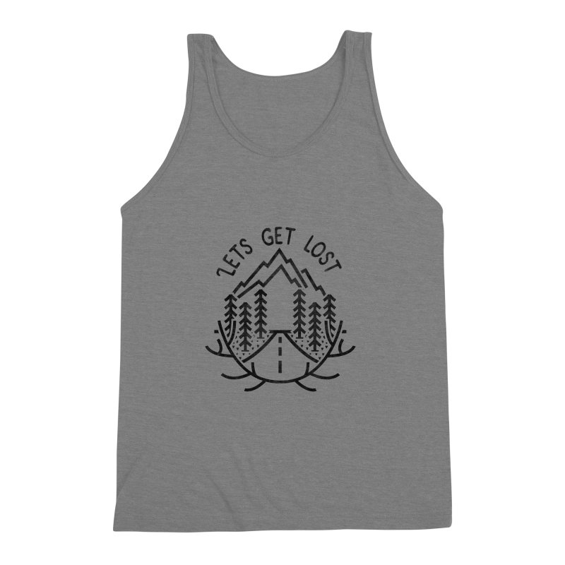 Lets get Lost Men's Triblend Tank by RLLBCK Clothing Co.