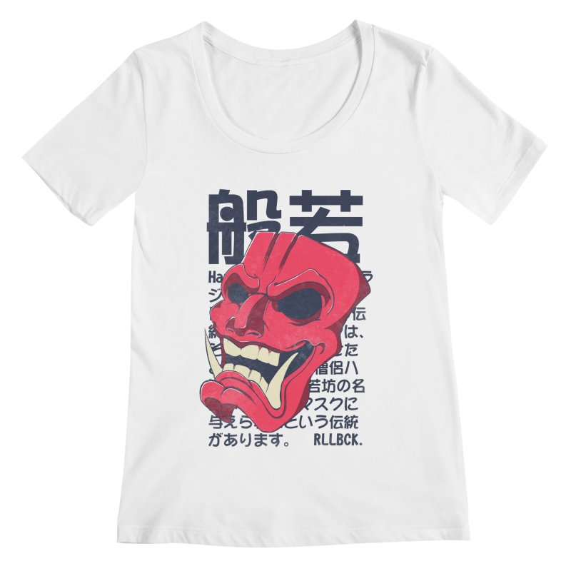 Mask Women's Regular Scoop Neck by RLLBCK Clothing Co.