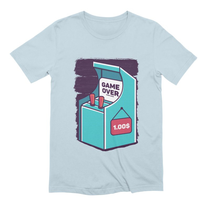 Game Machine Men's Extra Soft T-Shirt by RLLBCK Clothing Co.