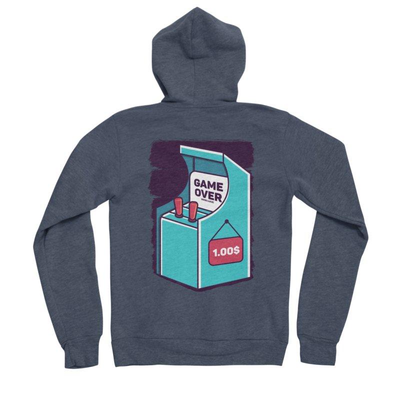 Game Machine Men's Sponge Fleece Zip-Up Hoody by RLLBCK Clothing Co.