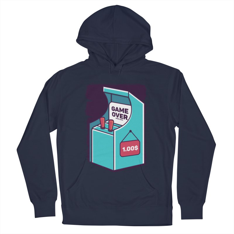 Game Machine Men's French Terry Pullover Hoody by RLLBCK Clothing Co.