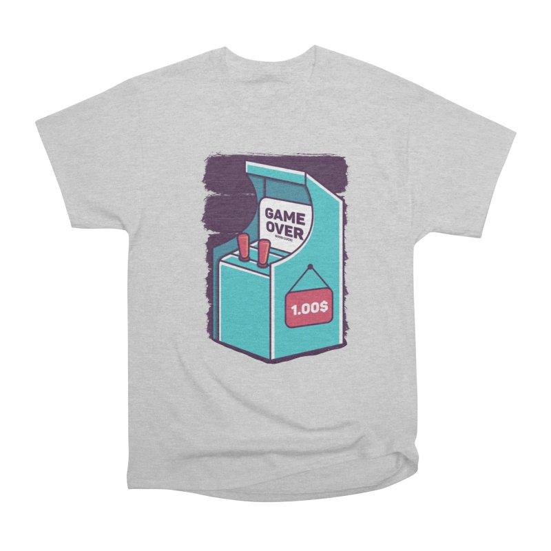 Game Machine Men's Heavyweight T-Shirt by RLLBCK Clothing Co.