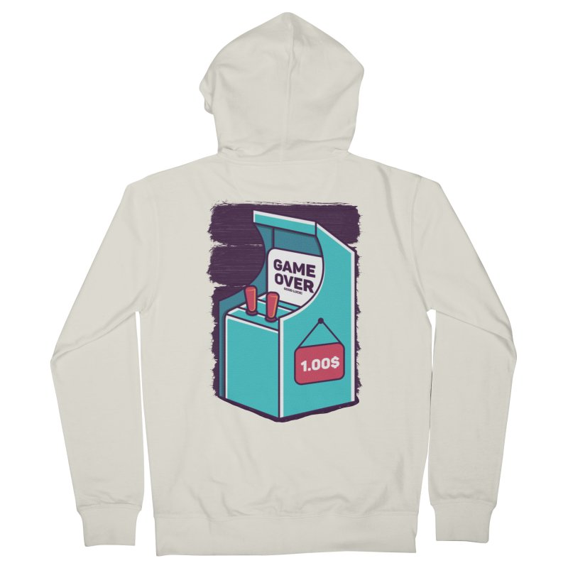 Game Machine Women's French Terry Zip-Up Hoody by RLLBCK Clothing Co.