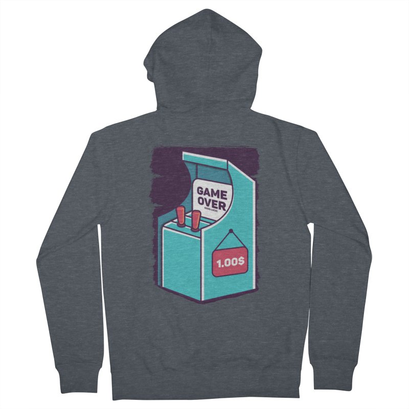 Game Machine Men's French Terry Zip-Up Hoody by RLLBCK Clothing Co.