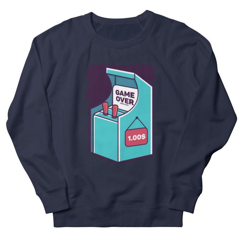 Game Machine Men's French Terry Sweatshirt by RLLBCK Clothing Co.