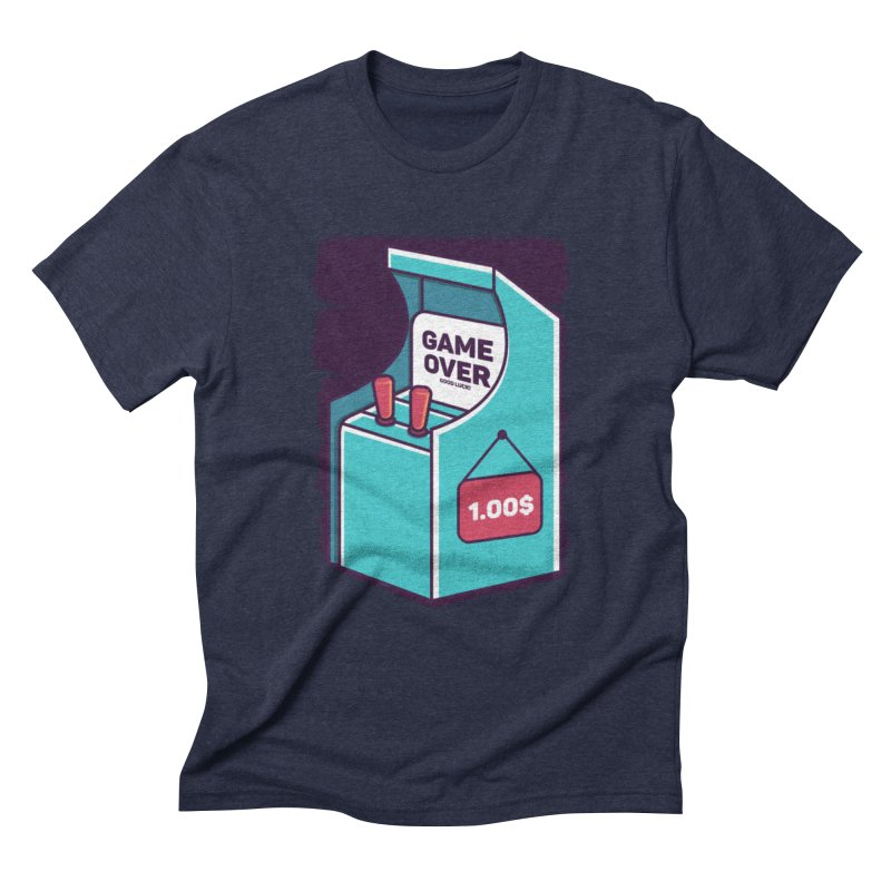 Game Machine Men's Triblend T-Shirt by RLLBCK Clothing Co.