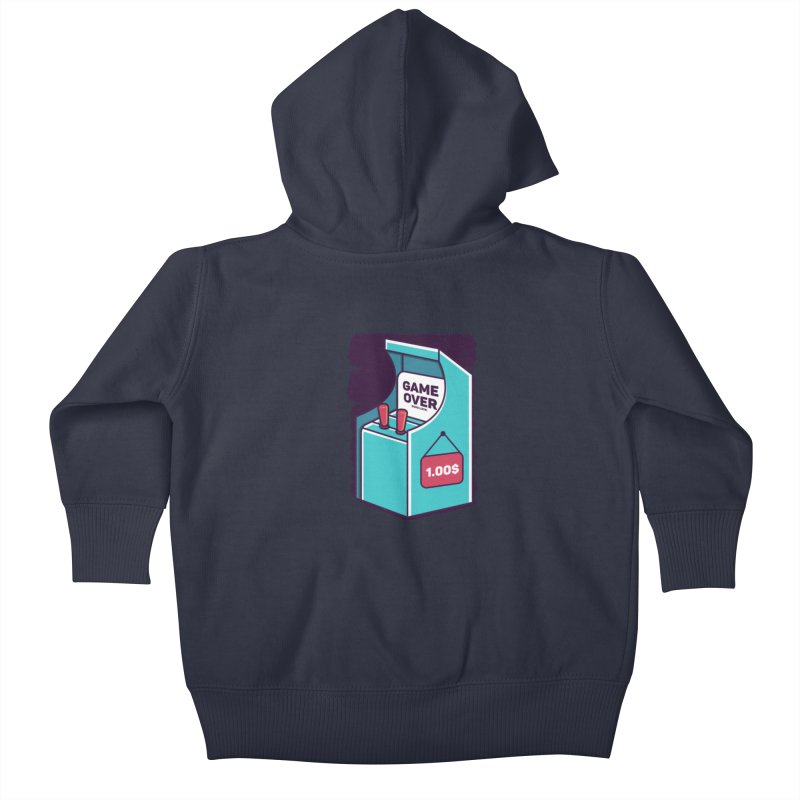 Game Machine Kids Baby Zip-Up Hoody by RLLBCK Clothing Co.