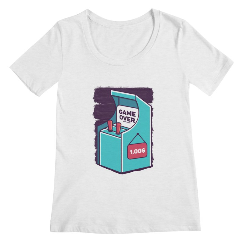 Game Machine Women's Regular Scoop Neck by RLLBCK Clothing Co.