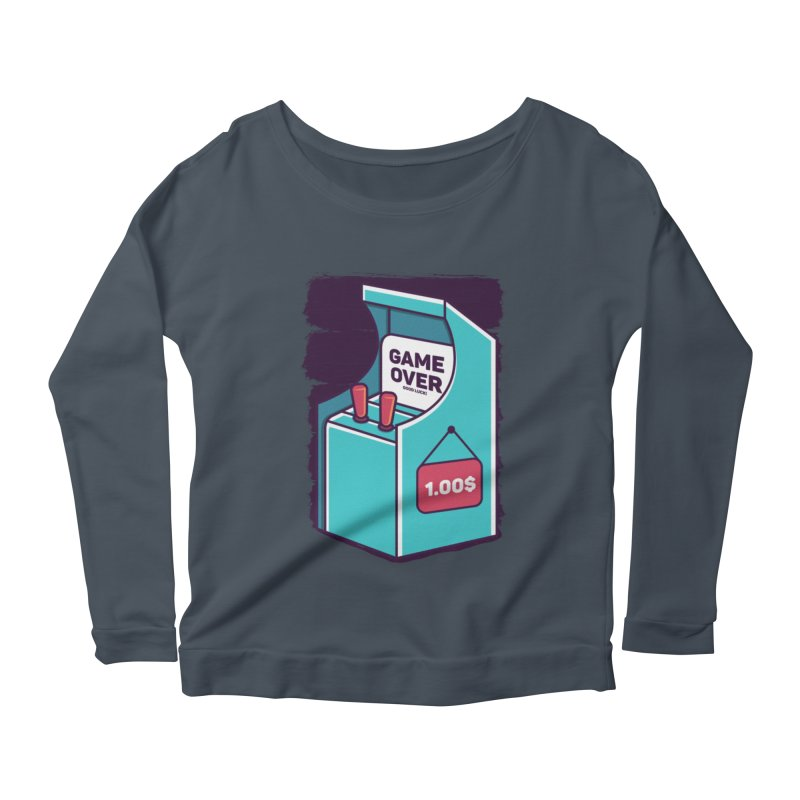 Game Machine Women's Scoop Neck Longsleeve T-Shirt by RLLBCK Clothing Co.