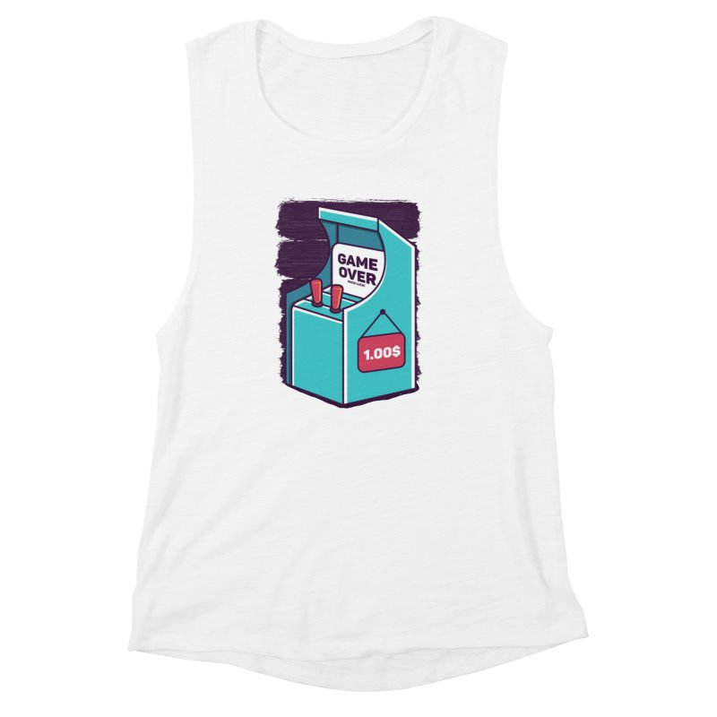 Game Machine Women's Muscle Tank by RLLBCK Clothing Co.