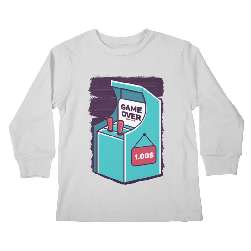 Game Machine Kids Longsleeve T-Shirt by RLLBCK Clothing Co.