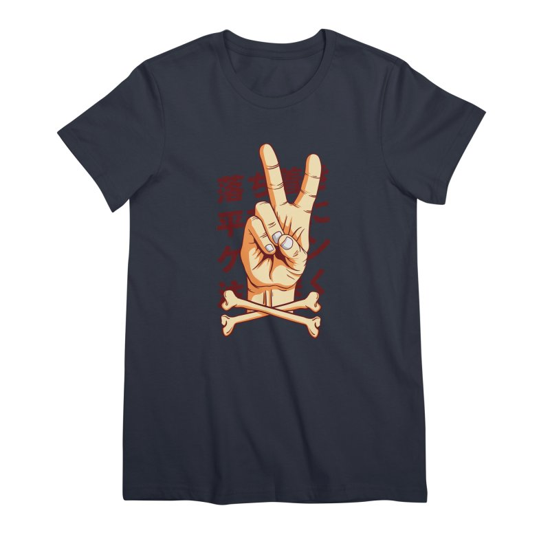 Peace Women's Premium T-Shirt by RLLBCK Clothing Co.