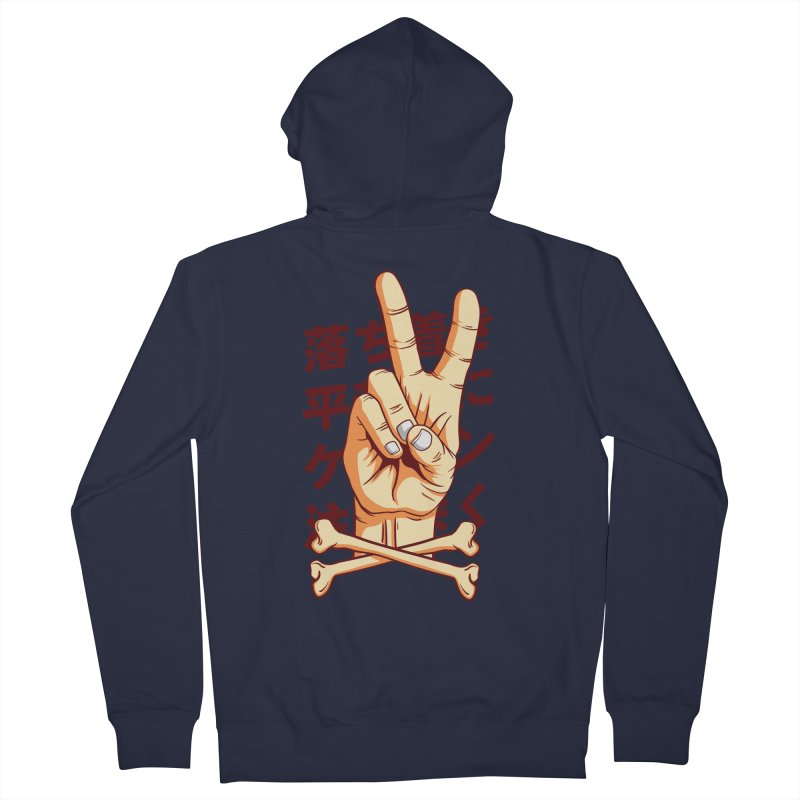 Peace Women's French Terry Zip-Up Hoody by RLLBCK Clothing Co.