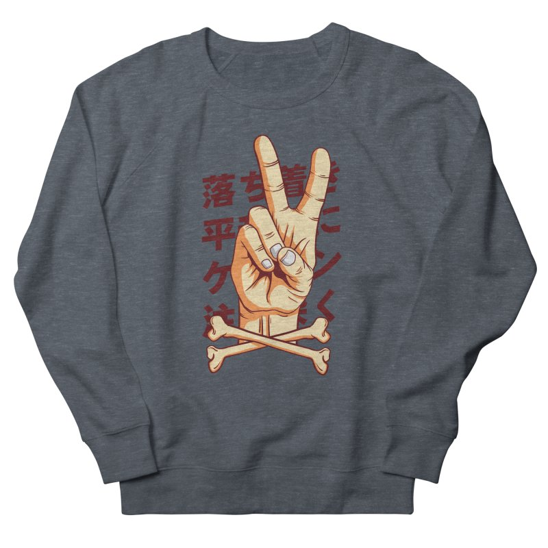 Peace Men's French Terry Sweatshirt by RLLBCK Clothing Co.