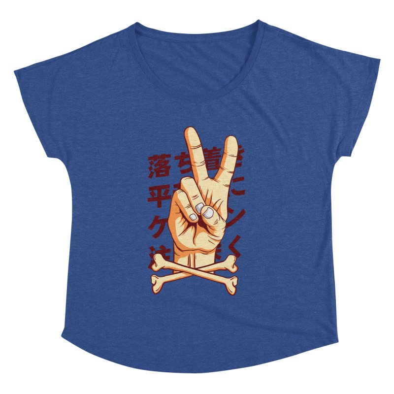 Peace Women's Dolman Scoop Neck by RLLBCK Clothing Co.