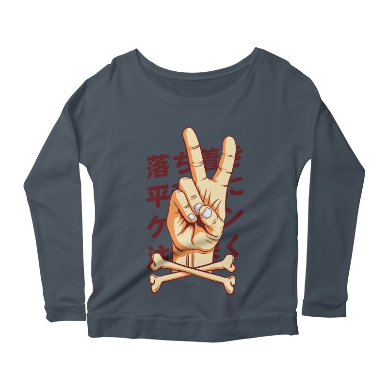 Peace Women's Scoop Neck Longsleeve T-Shirt by RLLBCK Clothing Co.