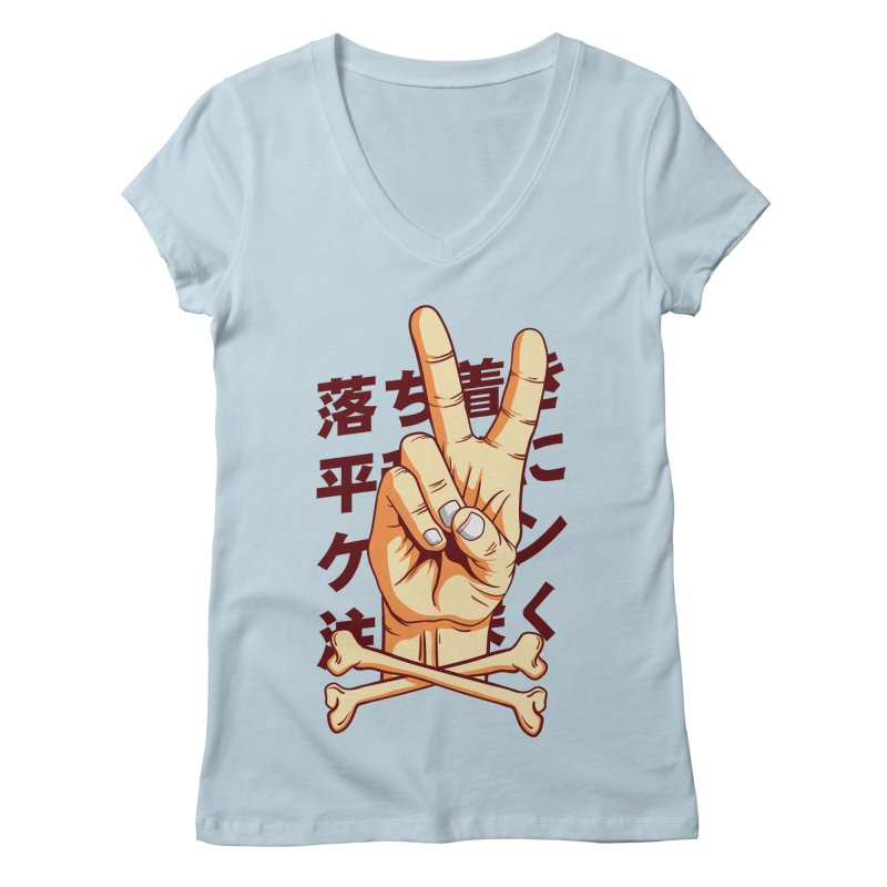 Peace Women's Regular V-Neck by RLLBCK Clothing Co.