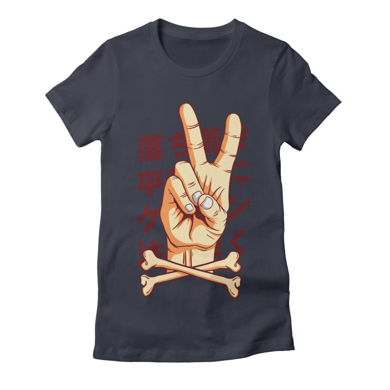 Peace Women's Fitted T-Shirt by RLLBCK Clothing Co.