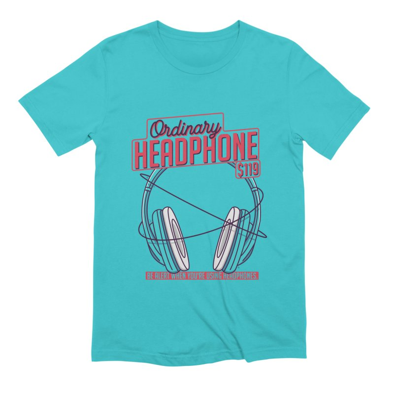 Ordinary Headphone Men's Extra Soft T-Shirt by RLLBCK Clothing Co.
