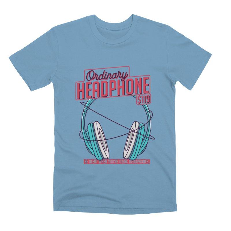 Ordinary Headphone Men's Premium T-Shirt by RLLBCK Clothing Co.
