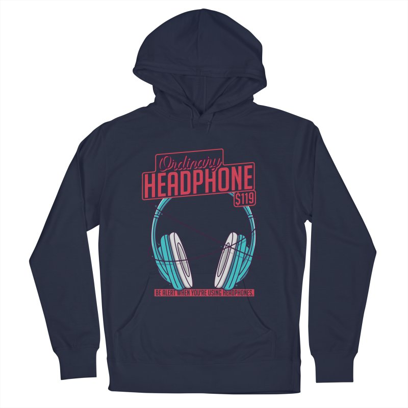 Ordinary Headphone Men's French Terry Pullover Hoody by RLLBCK Clothing Co.