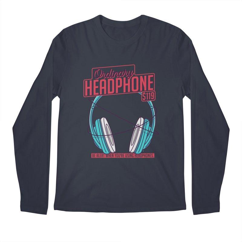 Ordinary Headphone Men's Regular Longsleeve T-Shirt by RLLBCK Clothing Co.