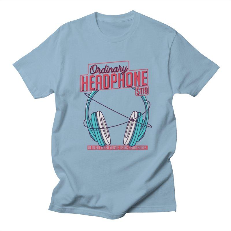 Ordinary Headphone Men's Regular T-Shirt by RLLBCK Clothing Co.