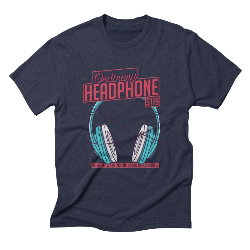 Ordinary Headphone Men's Triblend T-Shirt by RLLBCK Clothing Co.