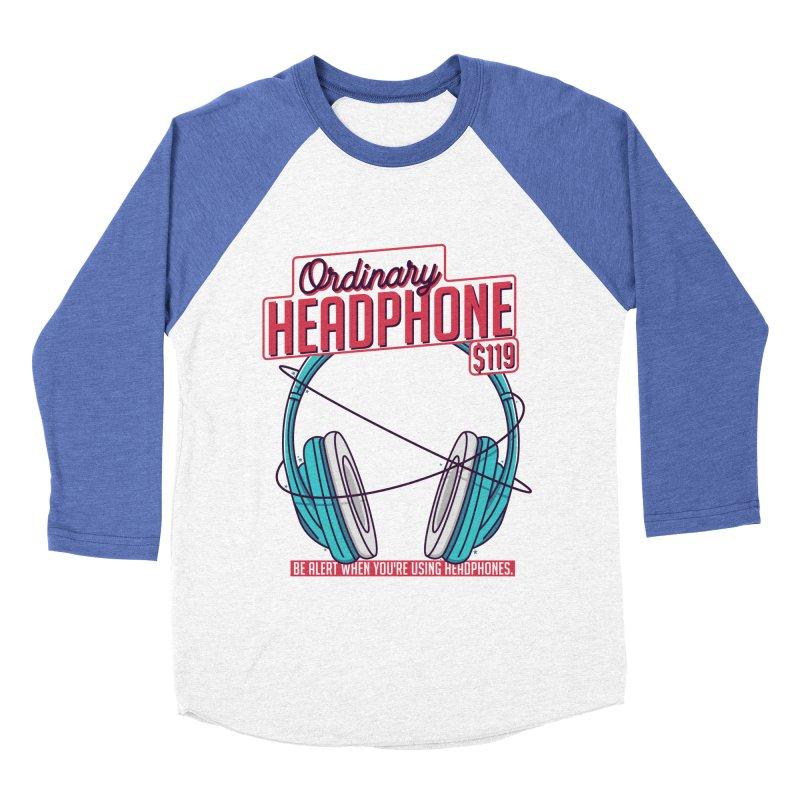 Ordinary Headphone Men's Baseball Triblend Longsleeve T-Shirt by RLLBCK Clothing Co.