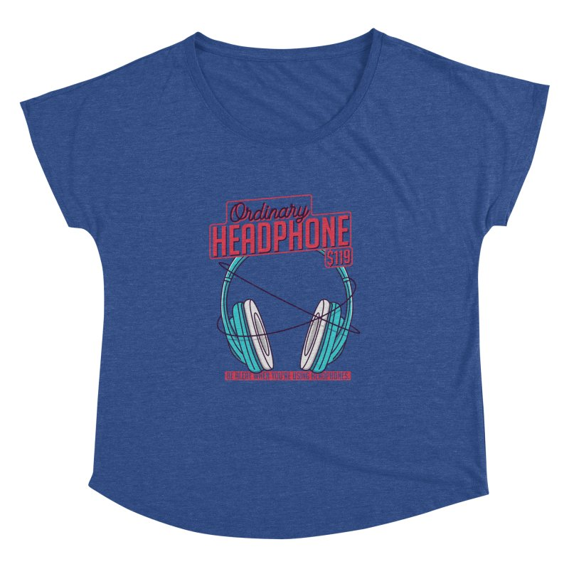 Ordinary Headphone Women's Dolman Scoop Neck by RLLBCK Clothing Co.