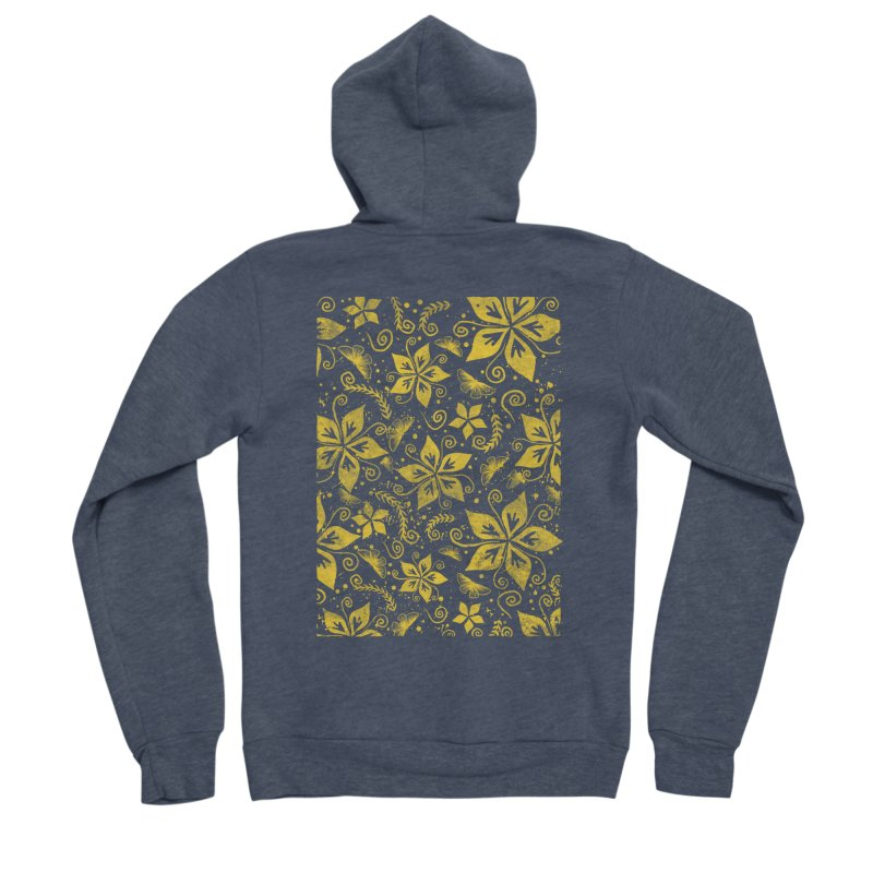 Batik Men's Sponge Fleece Zip-Up Hoody by RLLBCK Clothing Co.