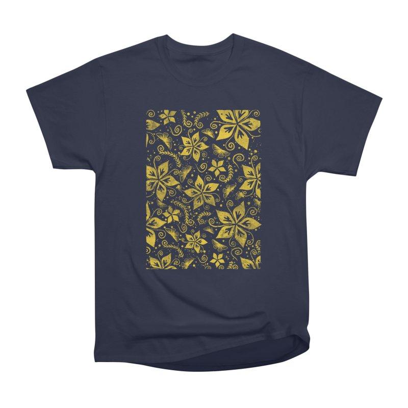 Batik Men's Heavyweight T-Shirt by RLLBCK Clothing Co.