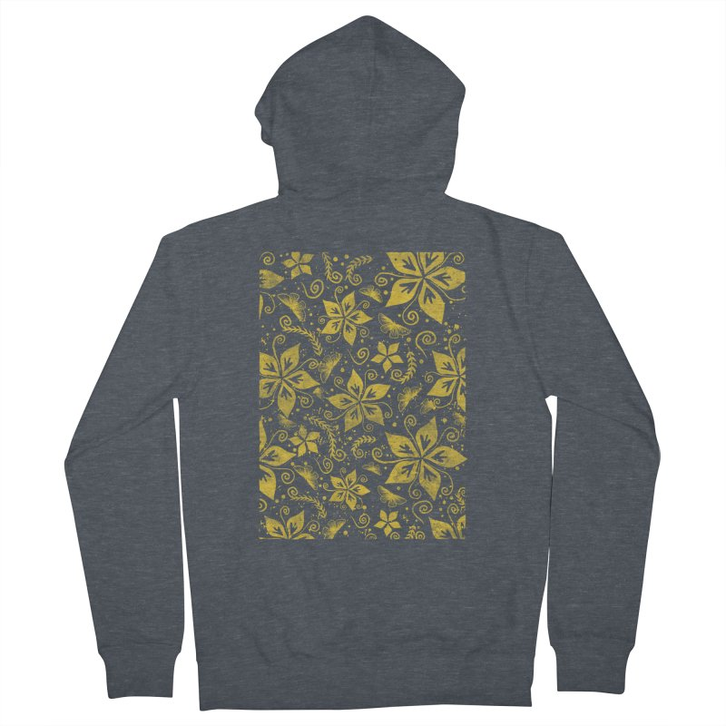 Batik Women's French Terry Zip-Up Hoody by RLLBCK Clothing Co.