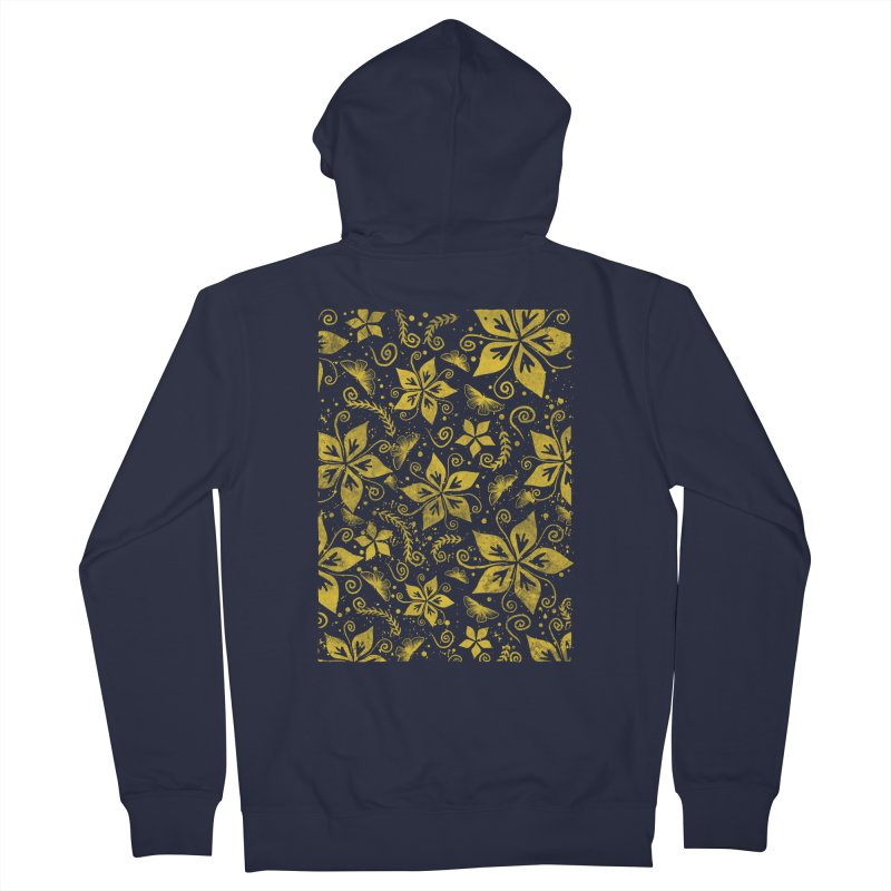 Batik Men's French Terry Zip-Up Hoody by RLLBCK Clothing Co.