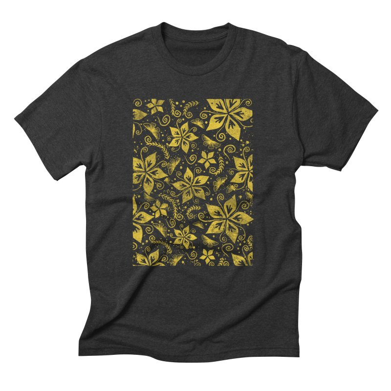Batik Men's Triblend T-Shirt by RLLBCK Clothing Co.