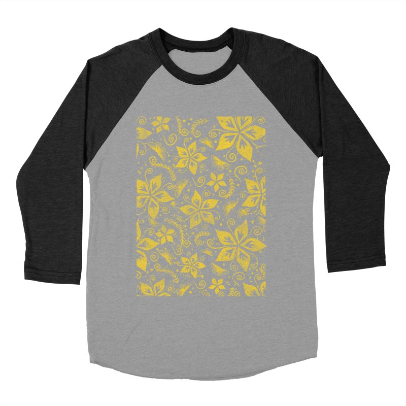 Batik Men's Baseball Triblend Longsleeve T-Shirt by RLLBCK Clothing Co.